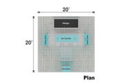 Used Exhibit 20x20 Exponents Plan View
