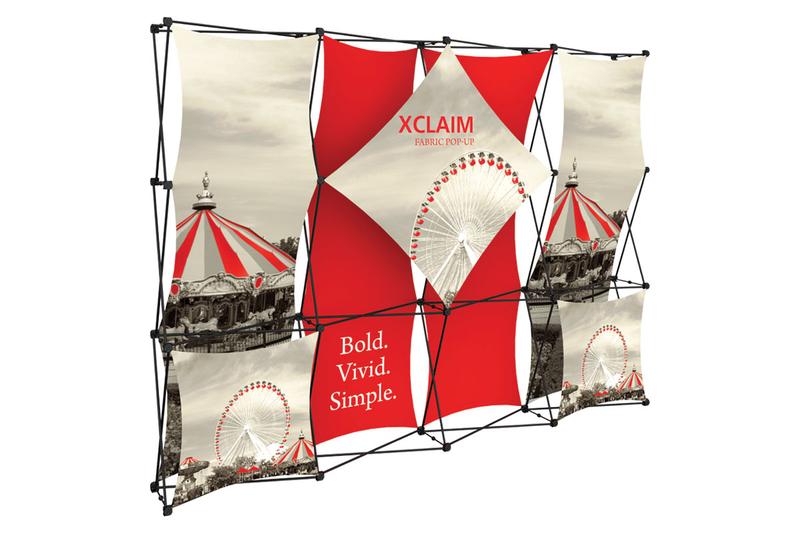 Xclaim 10' Fabric Popup Display Kit 01
