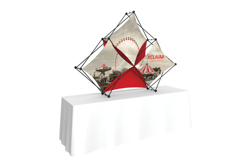Xclaim 8' Tabletop 3 Quad Fabric Popup Display Kit 02