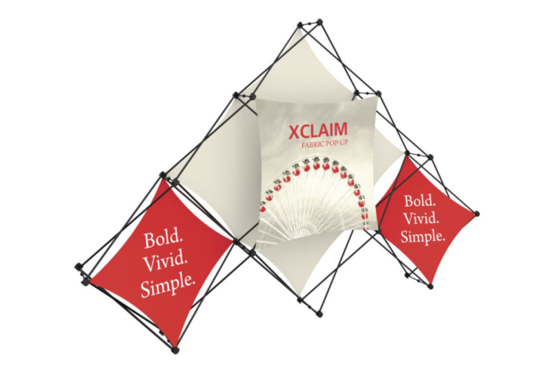 10' Xclaim 6 Quad Fabric Popup Display Kit 02