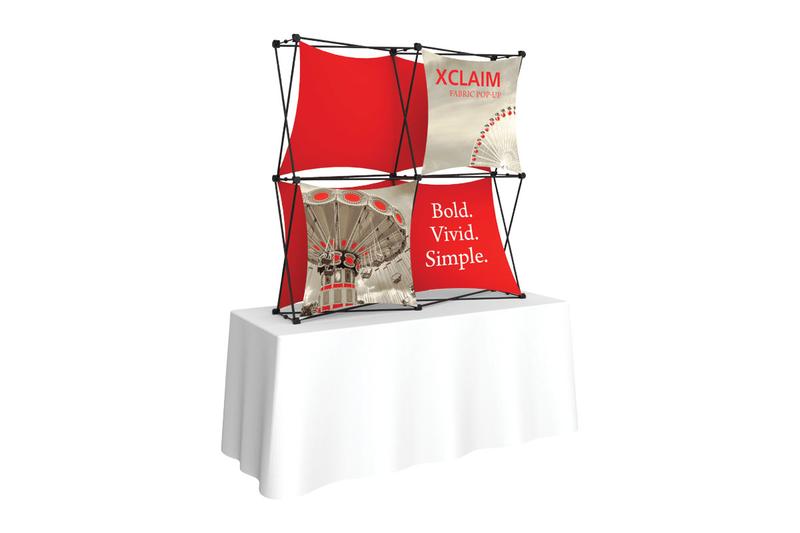 Xclaim 5' Tabletop Fabric Popup Display Kit 01
