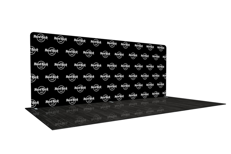 20' Step and Repeat Media Wall