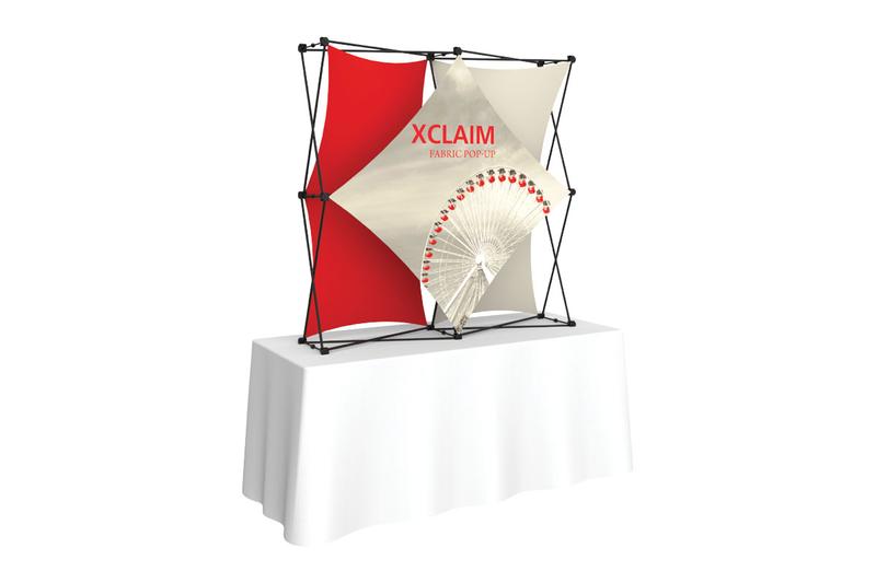 Xclaim 5' Tabletop Fabric Popup Display Kit 02