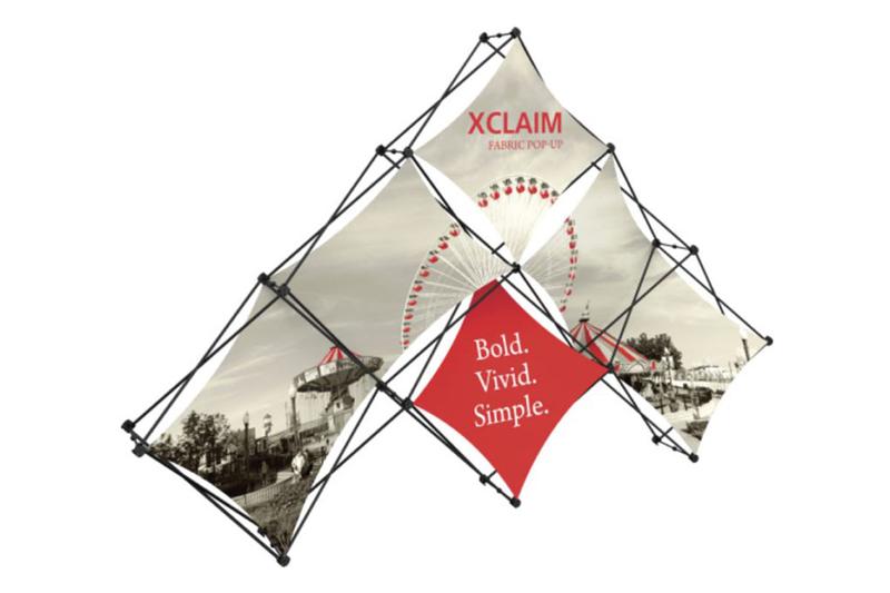 10' Xclaim 6 Quad Fabric Popup Display Kit 01