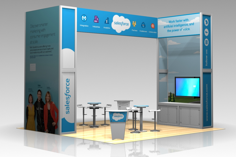 Salesforce Custom Modular Display - 20' x 20'
