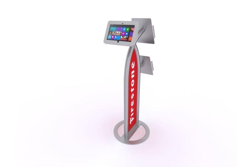 MOD-1353 iPad Kiosk  with Literature Holder