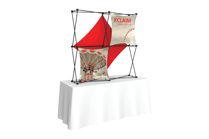 Xclaim 5' Tabletop Fabric Popup Display Kit 03