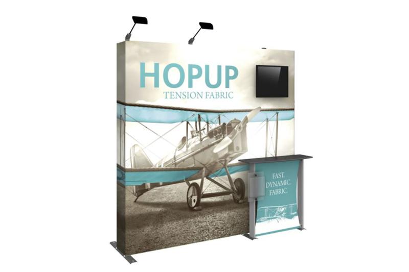 Hopup 8ft Fabric Display Kit 2